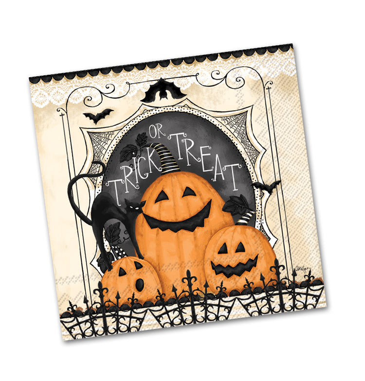 Trick or Treat Pumpkins Beverage Napkins