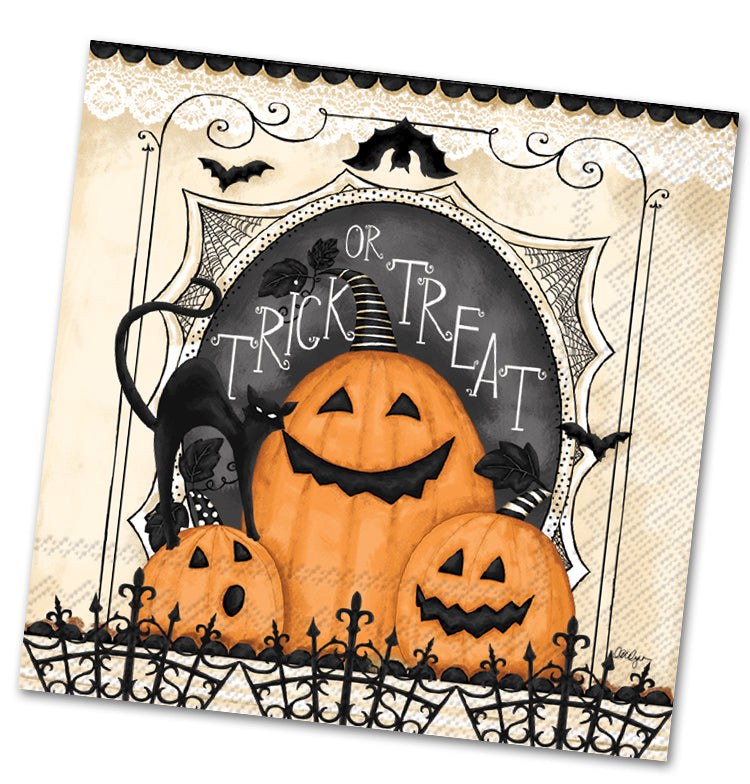 Trick or Treat Pumpkins Luncheon Napkins