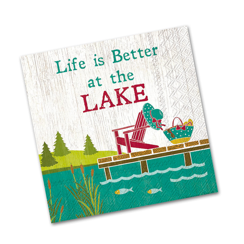 Better At The Lake Beverage Napkins
