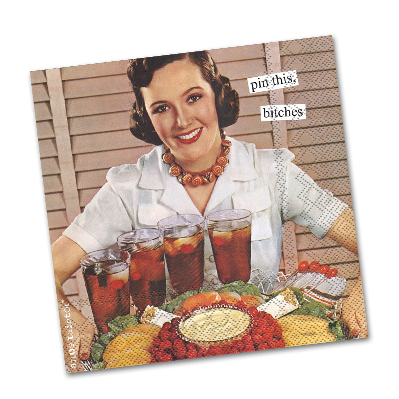 Pin This Funny Cocktail Napkins from Anne Taintor