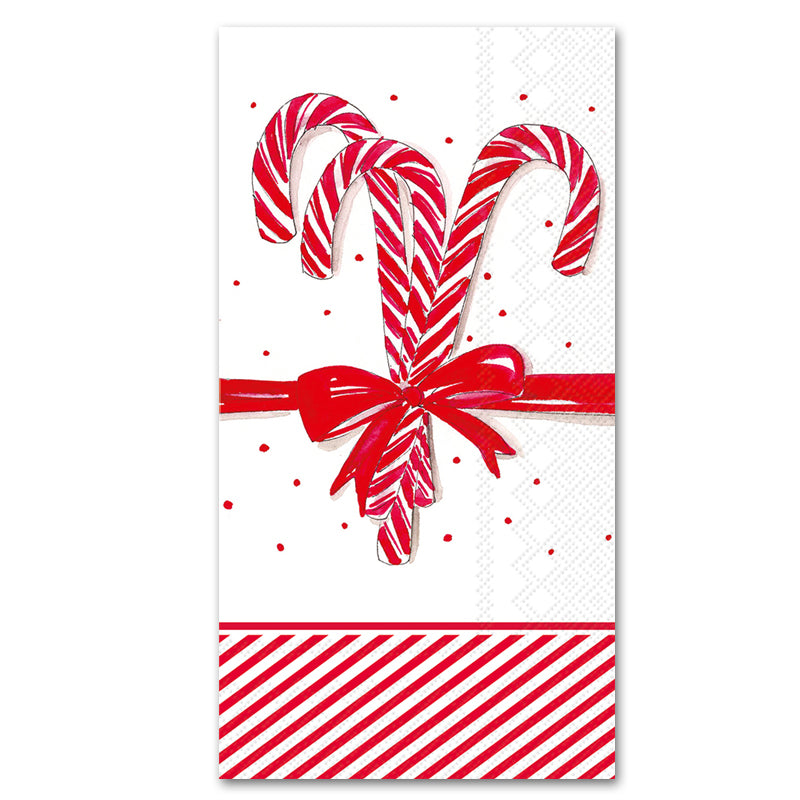 Candy Canes Guest Towels - Buffet Napkins