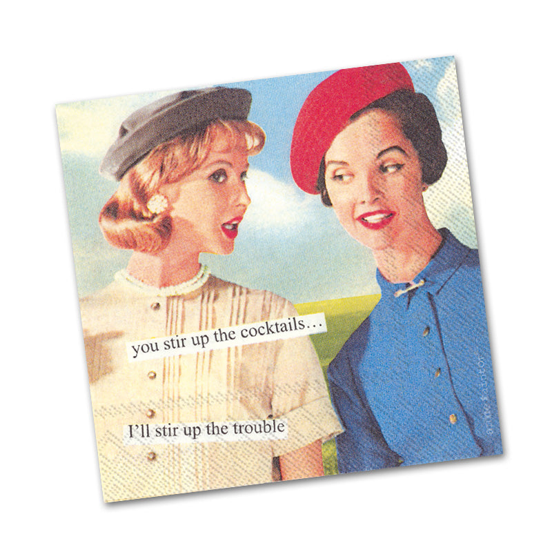 Stir Up Funny Cocktail Napkins from Anne Taintor