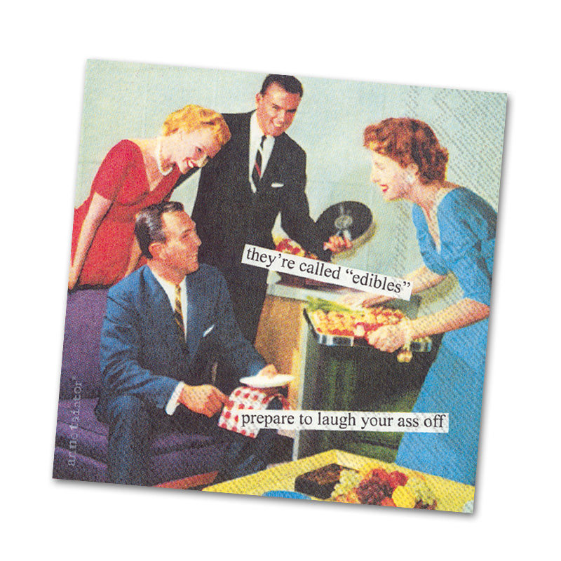 Edibles Funny Cocktail Napkins from Anne Taintor
