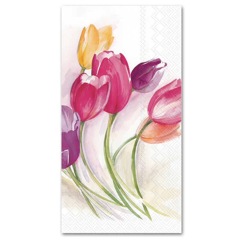 Tulip Season Paper Guest Towels - Buffet Napkins