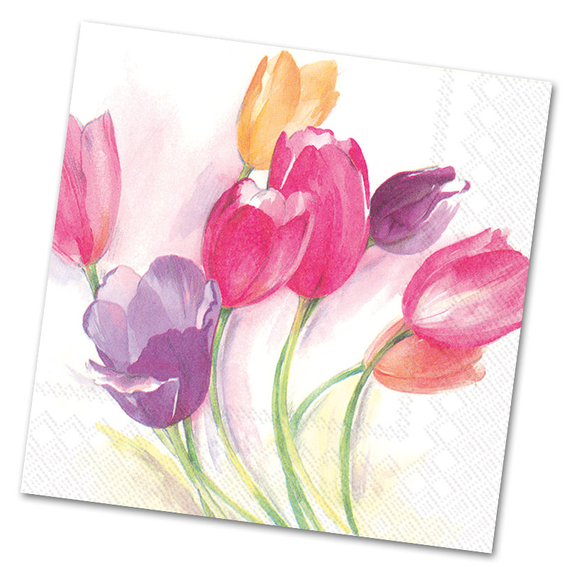 Tulip Season Paper Luncheon Napkins