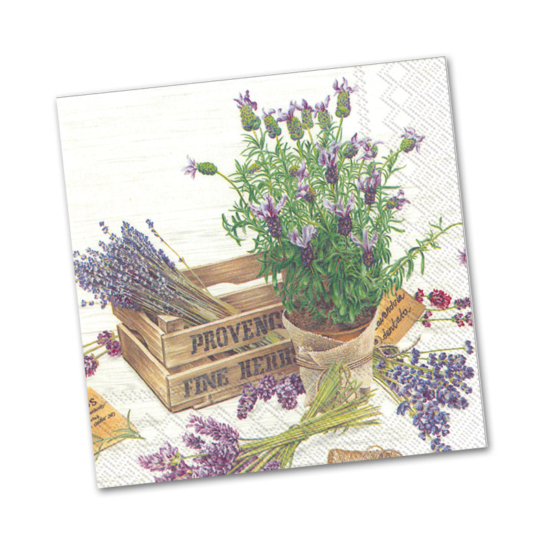 The Flavor of Provence Paper Beverage Napkins