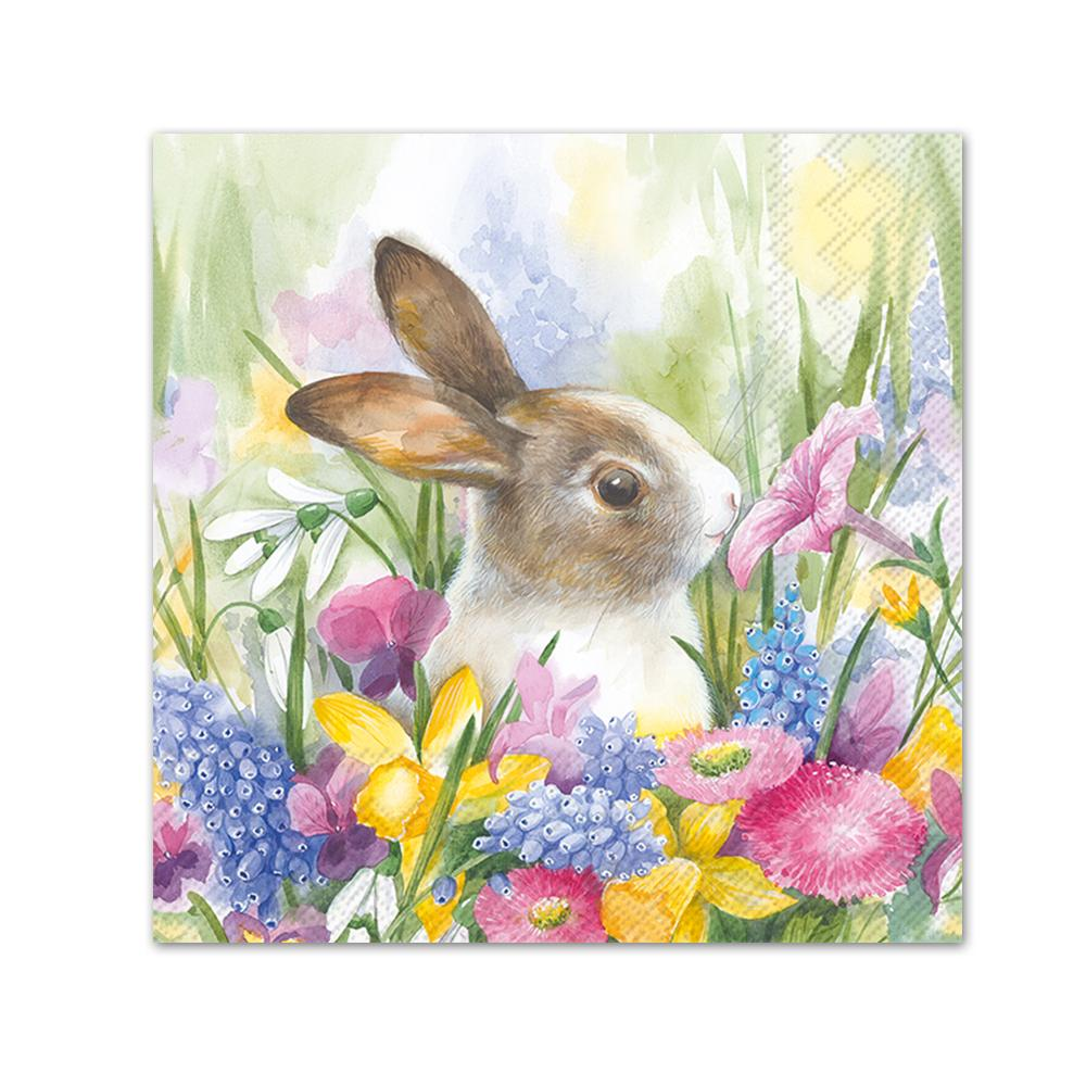 Ruby in the Meadow Rabbit Paper Beverage Napkins