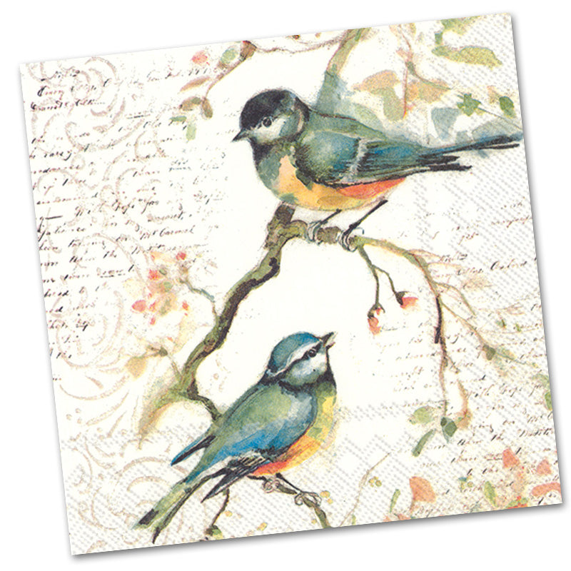 Happy Little Titmice Paper Luncheon Napkins