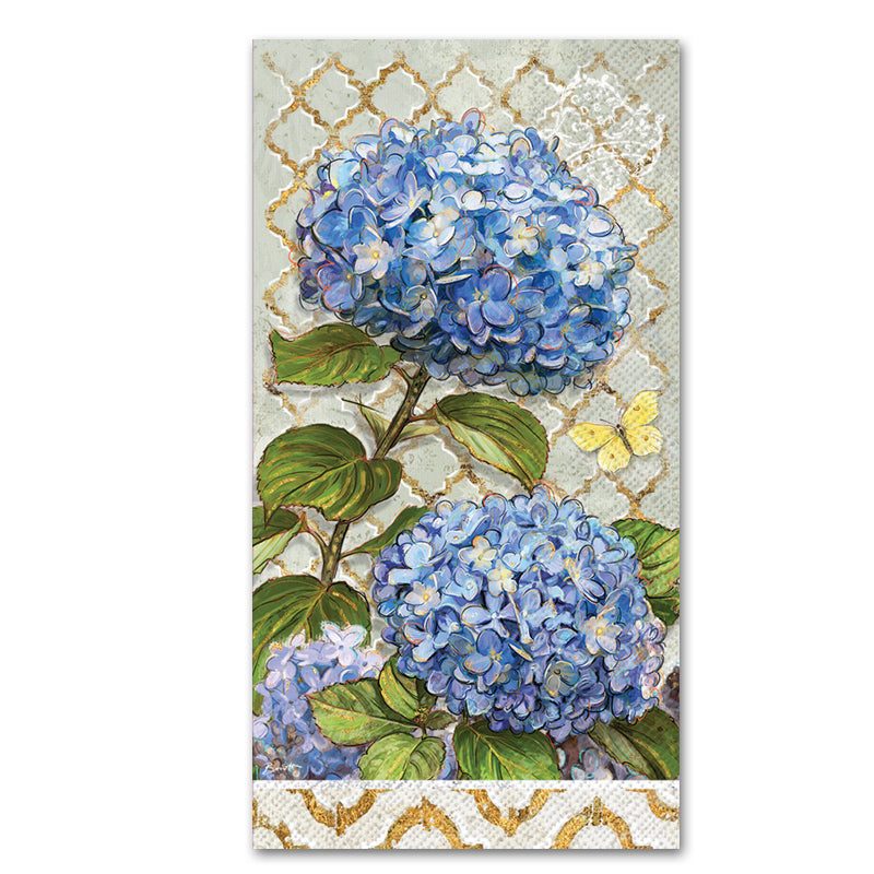 Blue Heirloom Hydrangea Paper Guest Towels - Buffet Napkins
