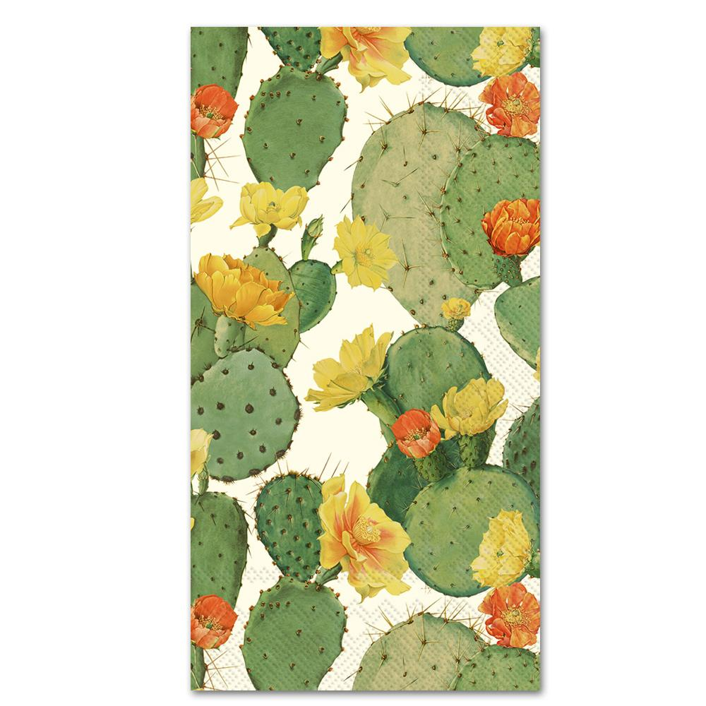 Cactus Cream Paper Guest Towels - Buffet Napkins