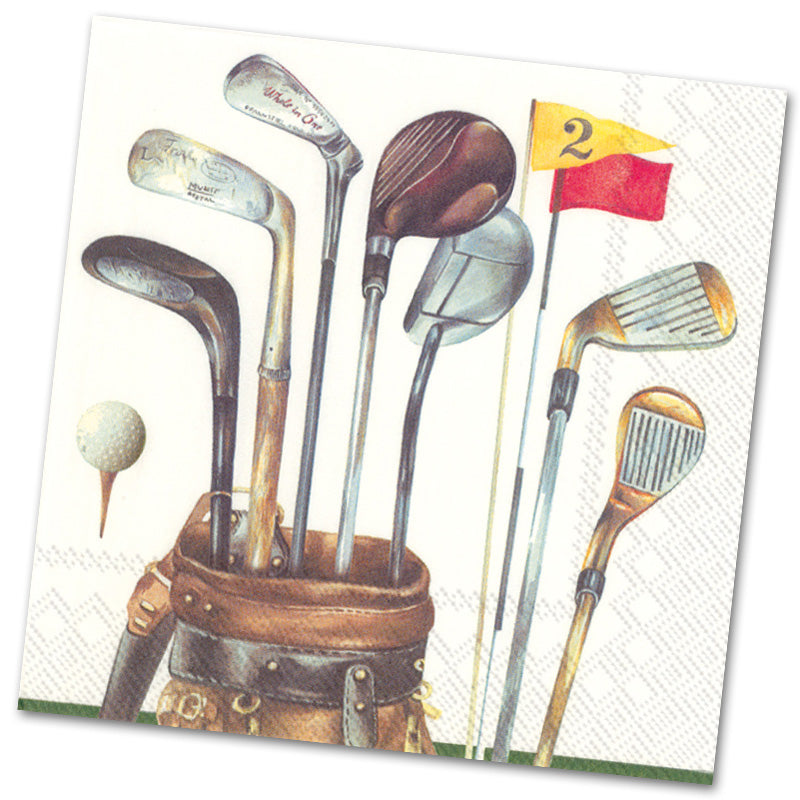 Golf Clubs Paper Luncheon Napkins