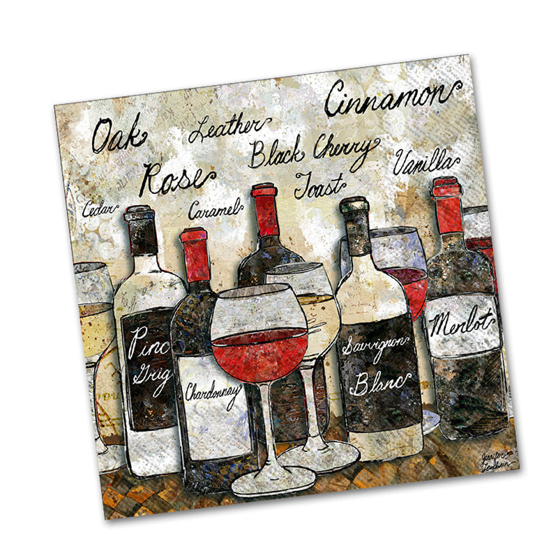 Wine Soiree Paper Beverage Napkins