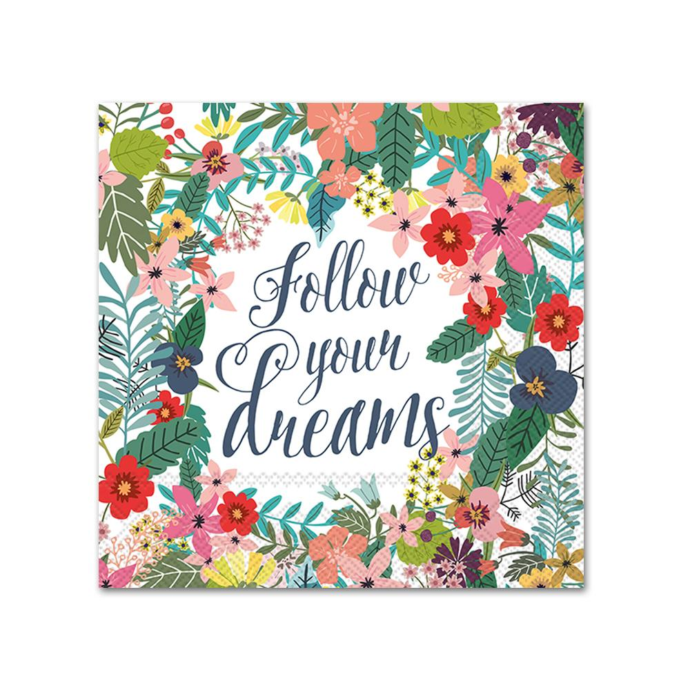 Follow Your Dreams Napkins - Beverage