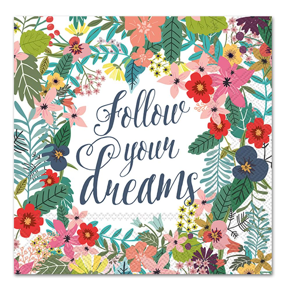 Follow Your Dreams Napkins - Luncheon