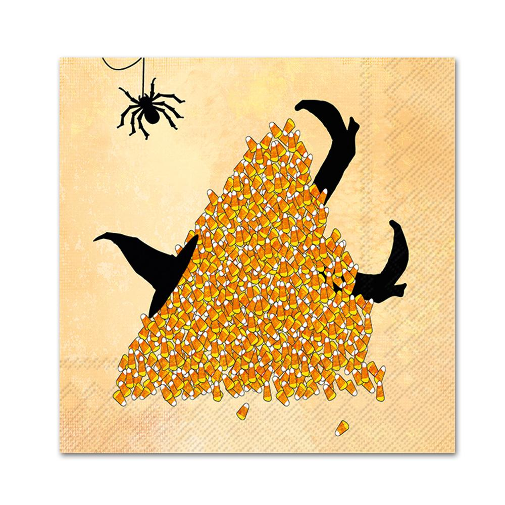 Kandy Korn Witch Paper Party Napkins - Beverage