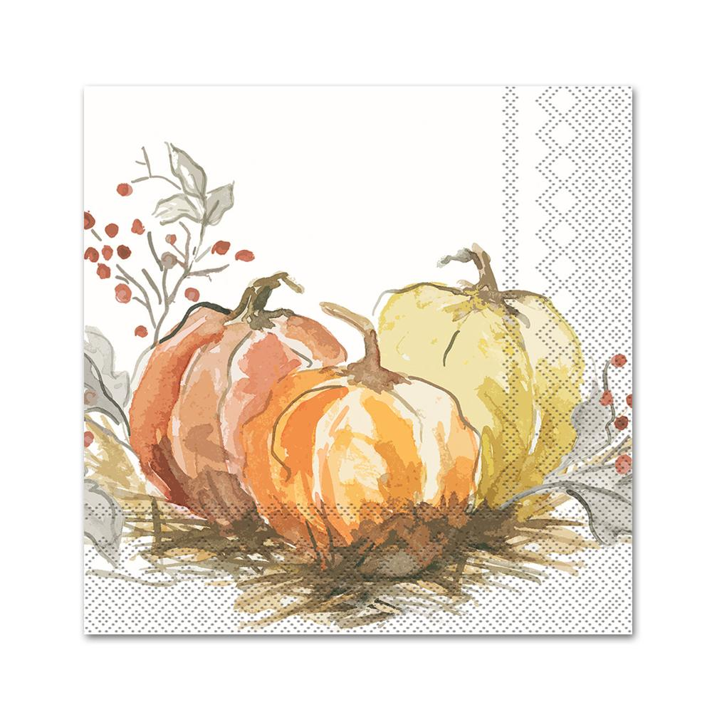 Painted Pumpkins Paper Napkins- Beverage