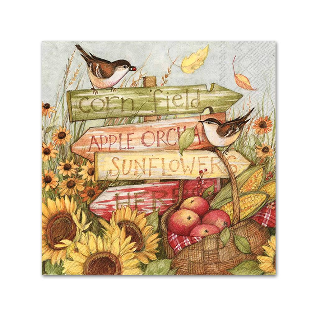 Harvest Signs Paper Napkins - Beverage