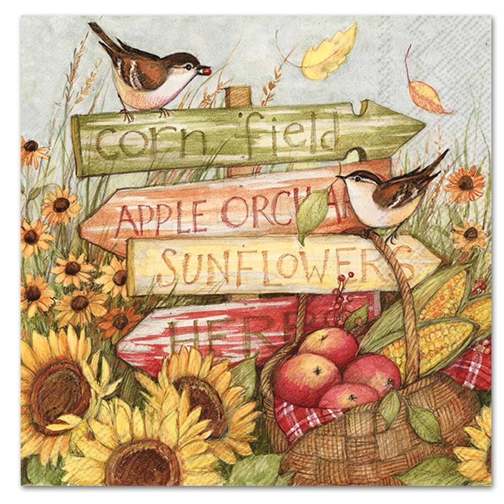Harvest Signs Paper Napkins - Luncheon