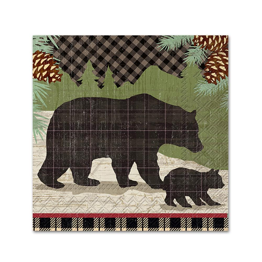 Black Bears Paper Napkins - Beverage