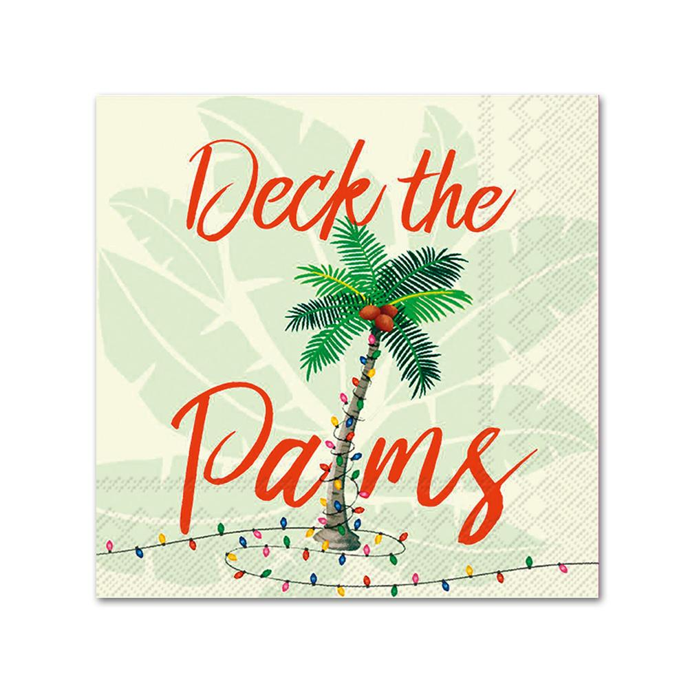 Deck the Palms Beverage Napkins
