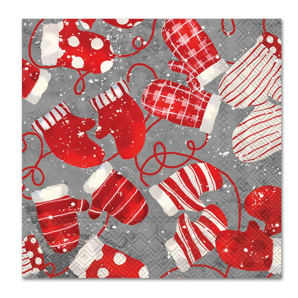 Christmas Mittens Paper Napkins - Luncheon