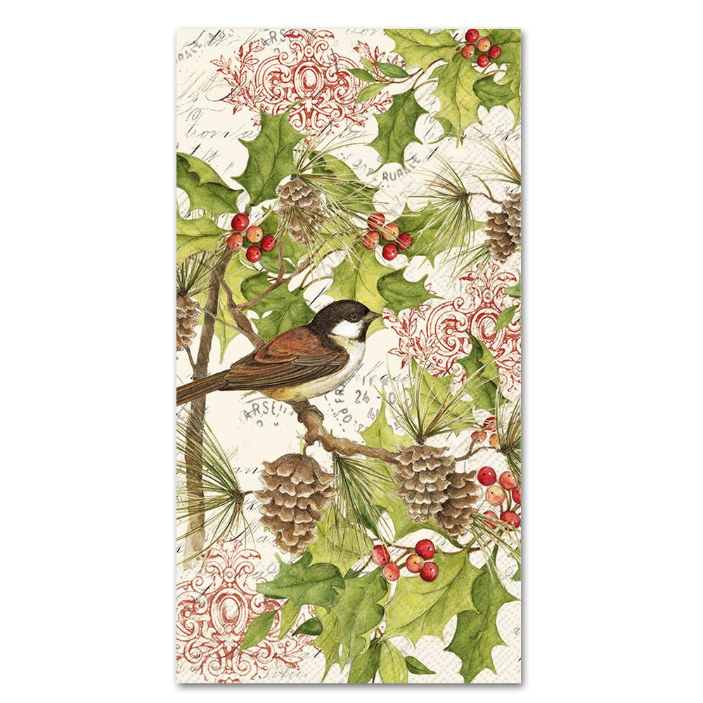 Chickadee Holiday Paper Guest Towels
