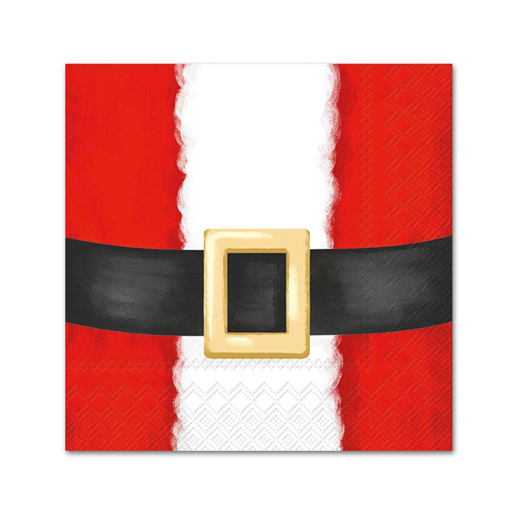 Santa Suit Paper Christmas Beverage Napkins