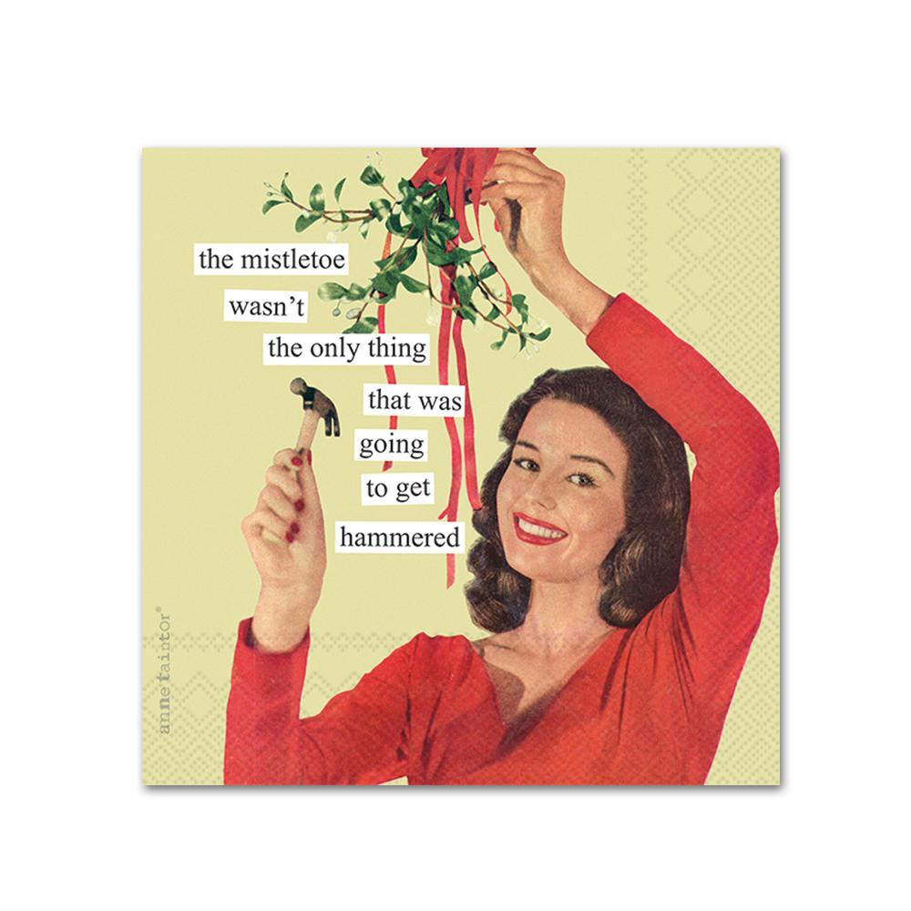 The Mistletoe Funny Cocktail Napkins by Anne Taintor