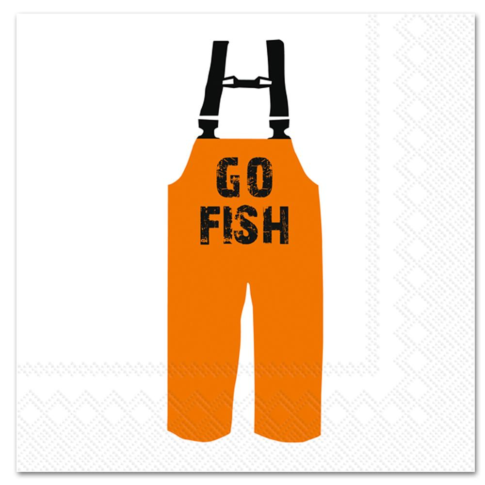 Go Fish Paper Luncheon Napkins