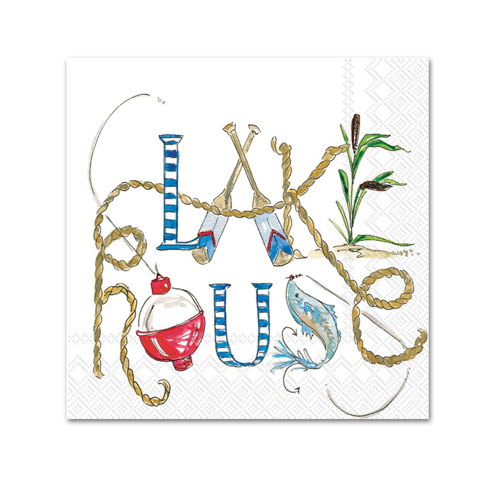 Lake Life Paper Beverage Napkins