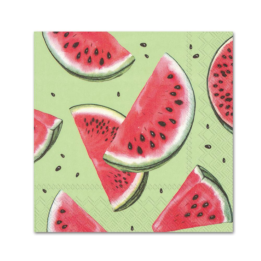 Watermelon Slices Paper Beverage Napkins