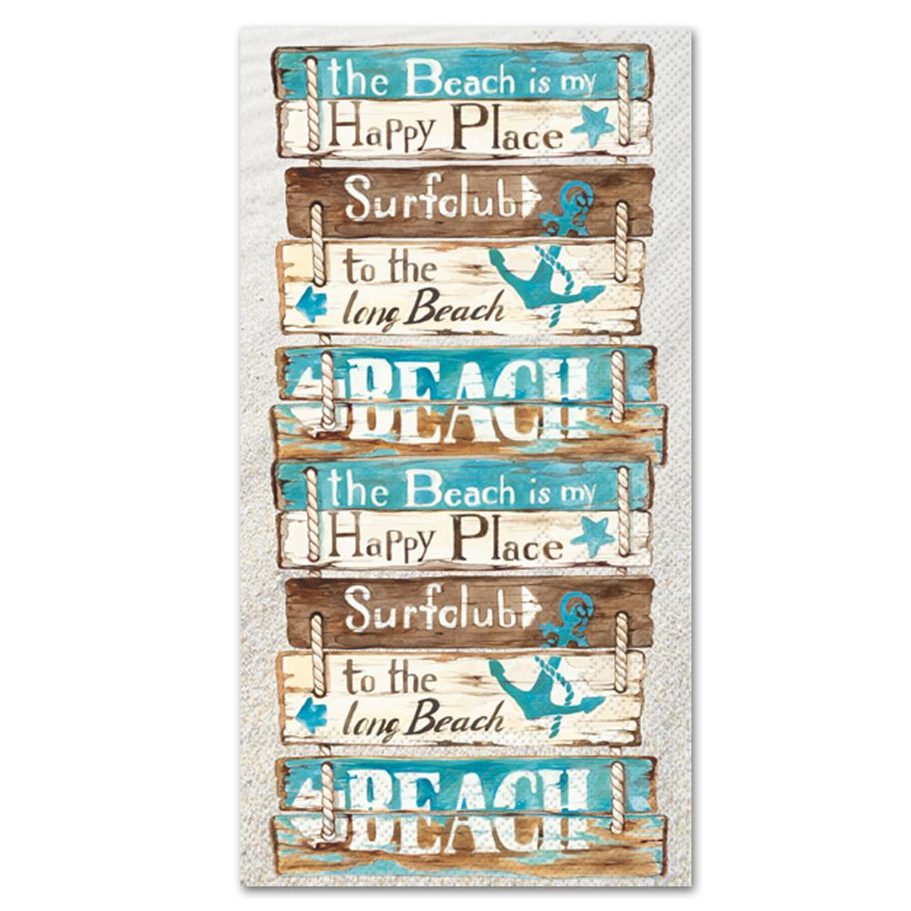 Happy Place at the Beach Paper Guest Towels