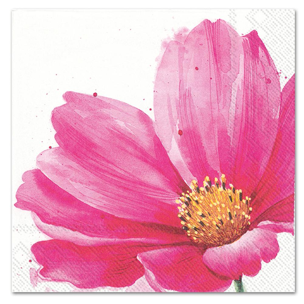 Ally Pink Blooms Paper Luncheon Napkins