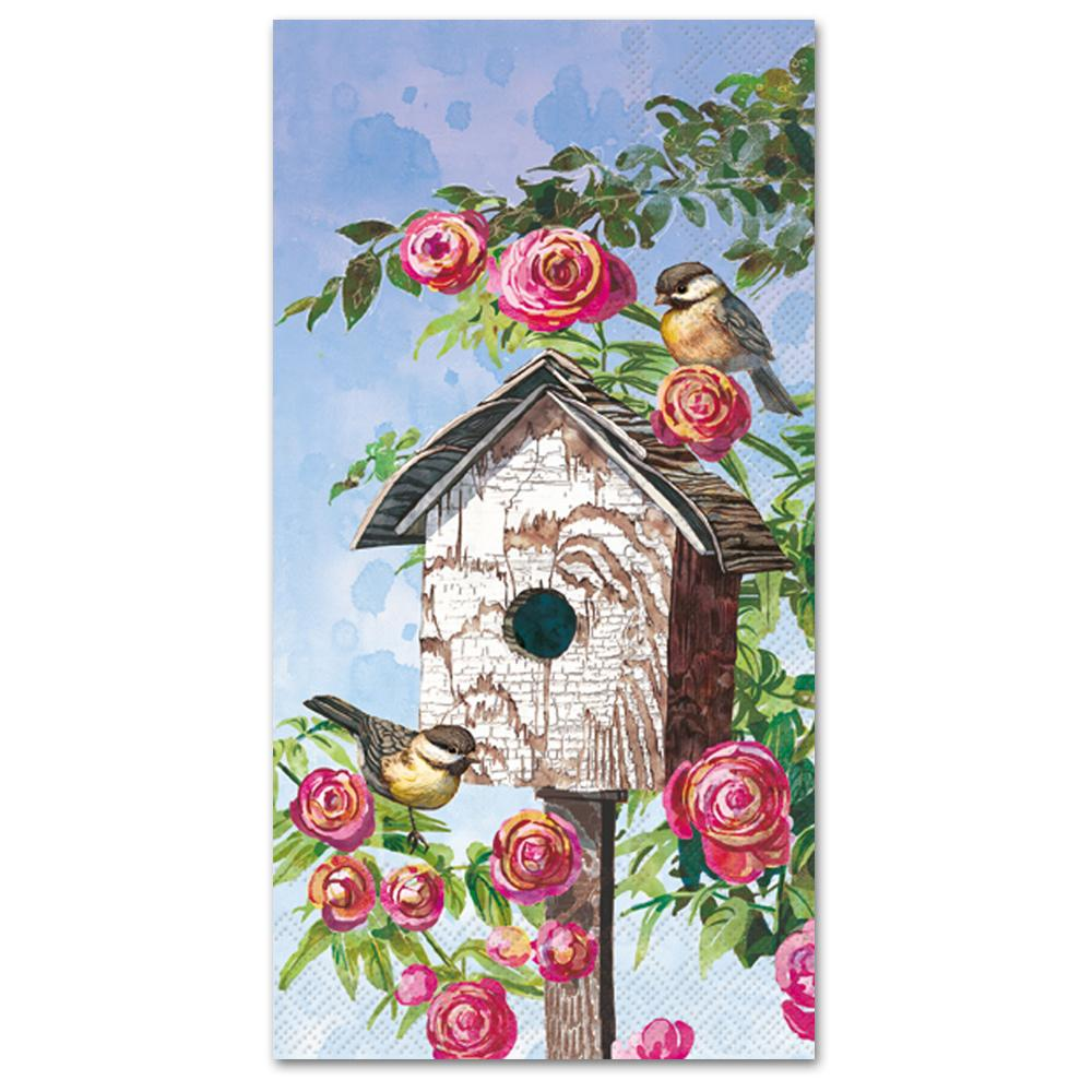 Lovely Birdhouse Paper Guest Towels - Buffet Napkins