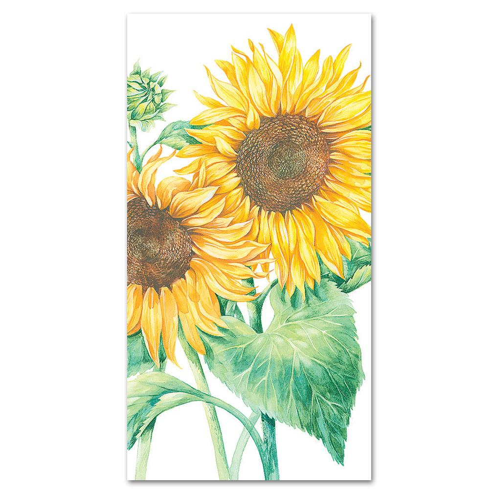 Mirasol Sunflower Paper Guest Towels - Buffet Napkins