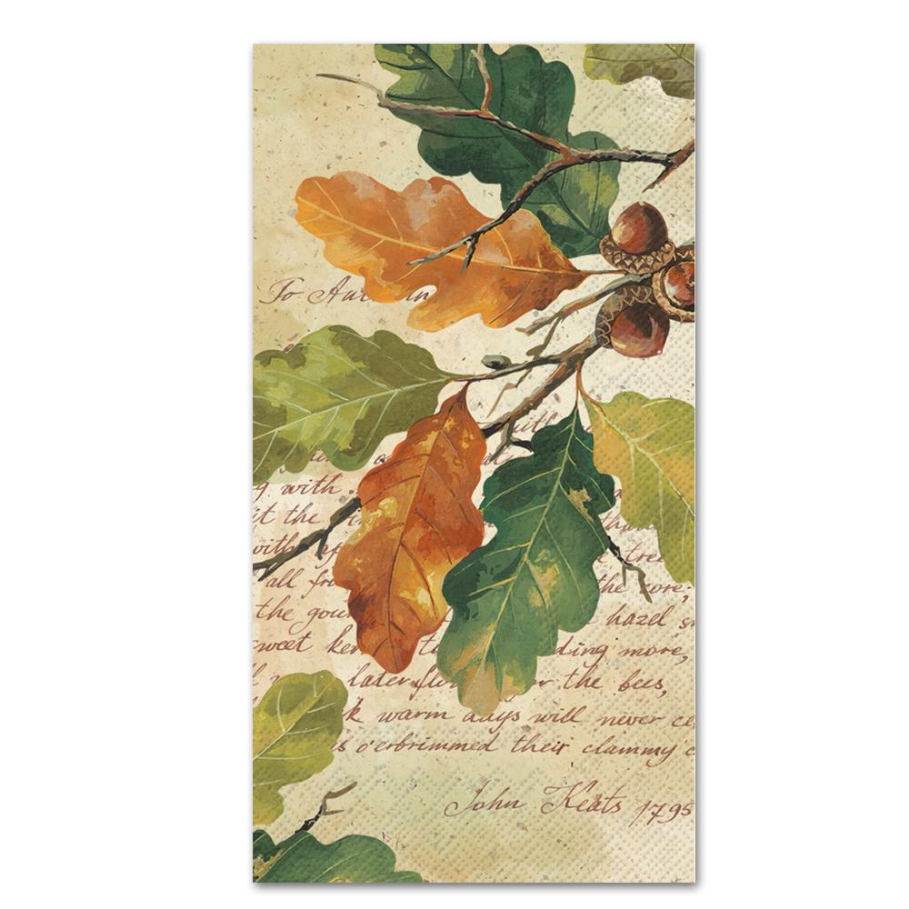 Oak at Autumn Paper Guest Towels - Buffet Napkins