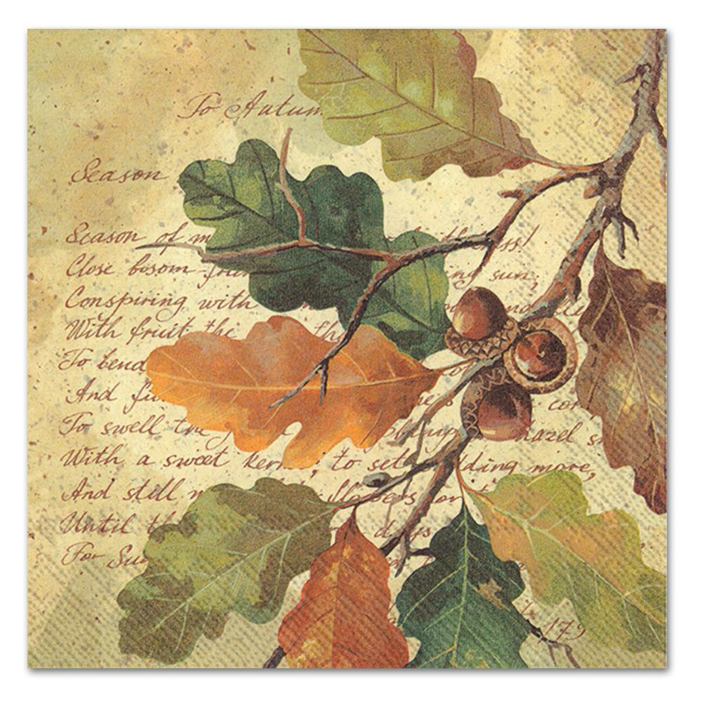 Oak at Autumn Paper Luncheon Napkins