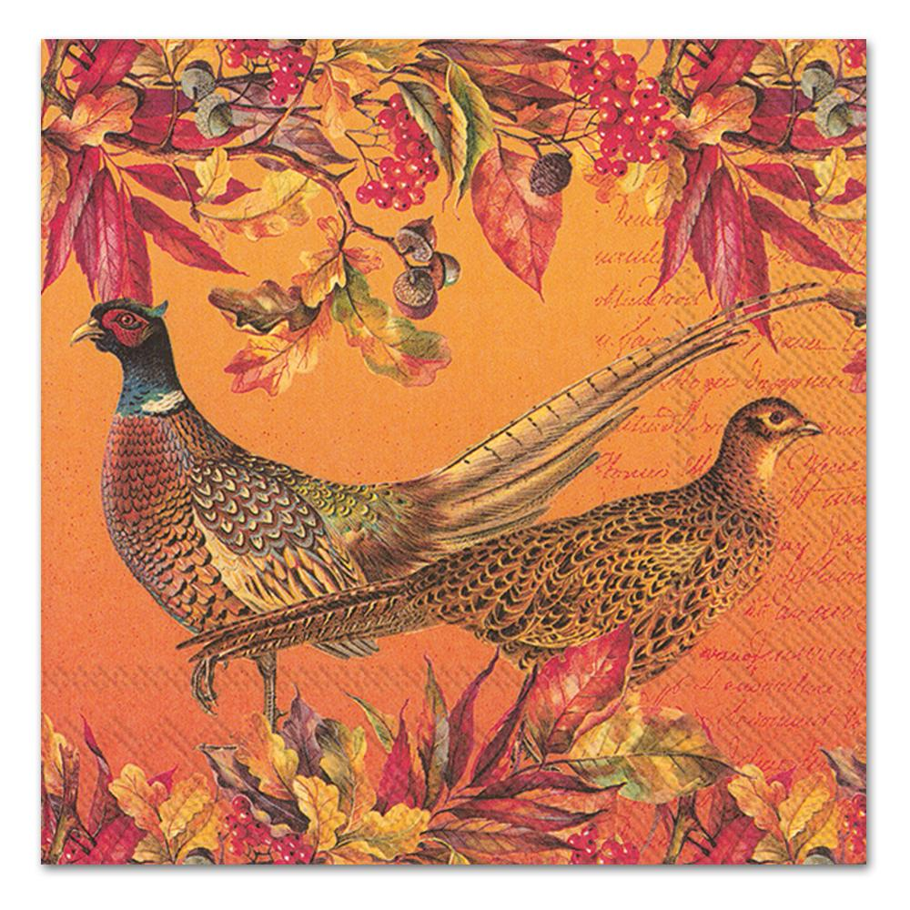 Golden Pheasants Paper Luncheon Napkins