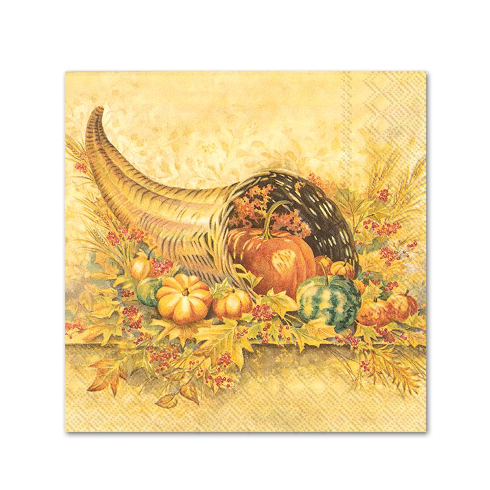 Bountiful Autumn Paper Beverage Napkins