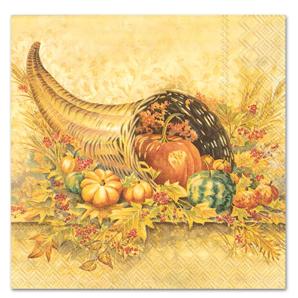 Bountiful Autumn Paper Luncheon Napkins