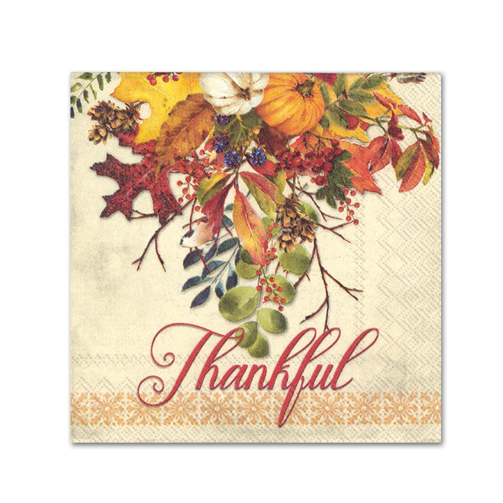 Thankful Fall Gathering Beverage Napkins