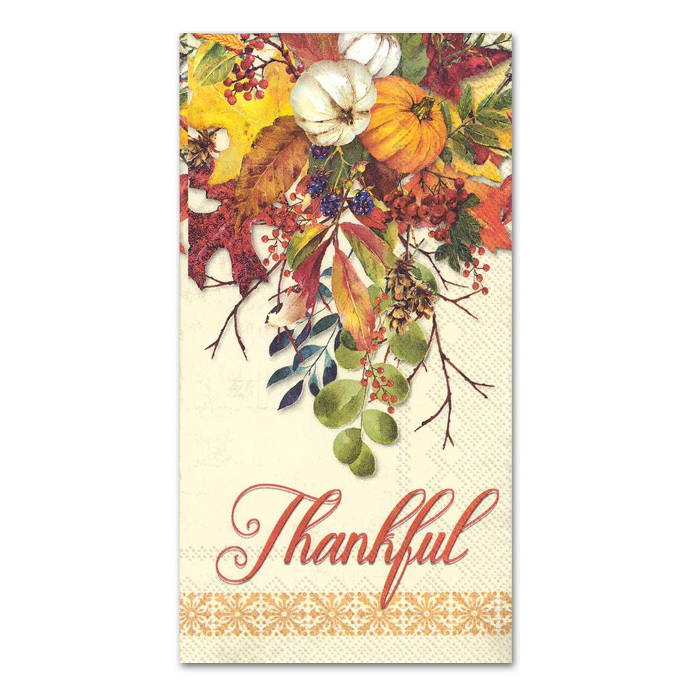 Thankful Fall Gathering Guest Towesl - Buffet Napkins