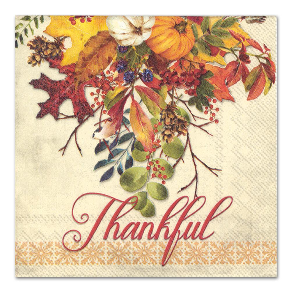 Thankful Fall Gathering Luncheon Napkins