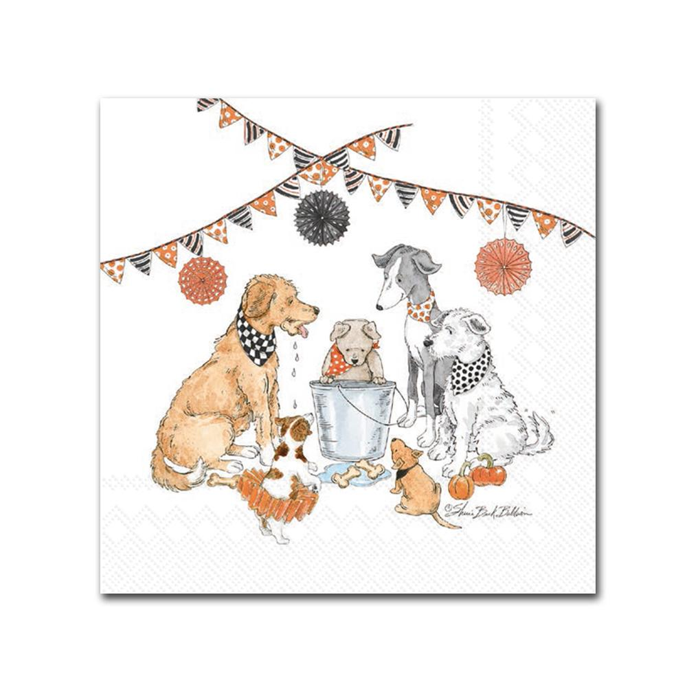 Dogs Halloween Party Beverage Napkins