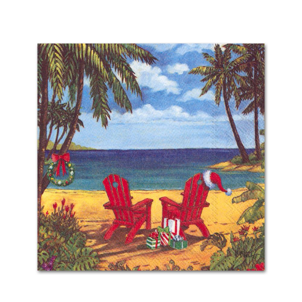 Christmas at Discovery Bay Paper Beverage Napkins