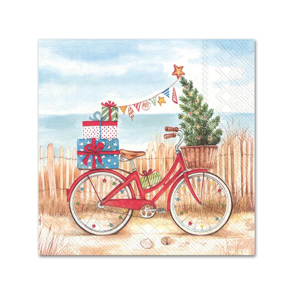 Christmas at the Seaside Paper Beverage Napkins