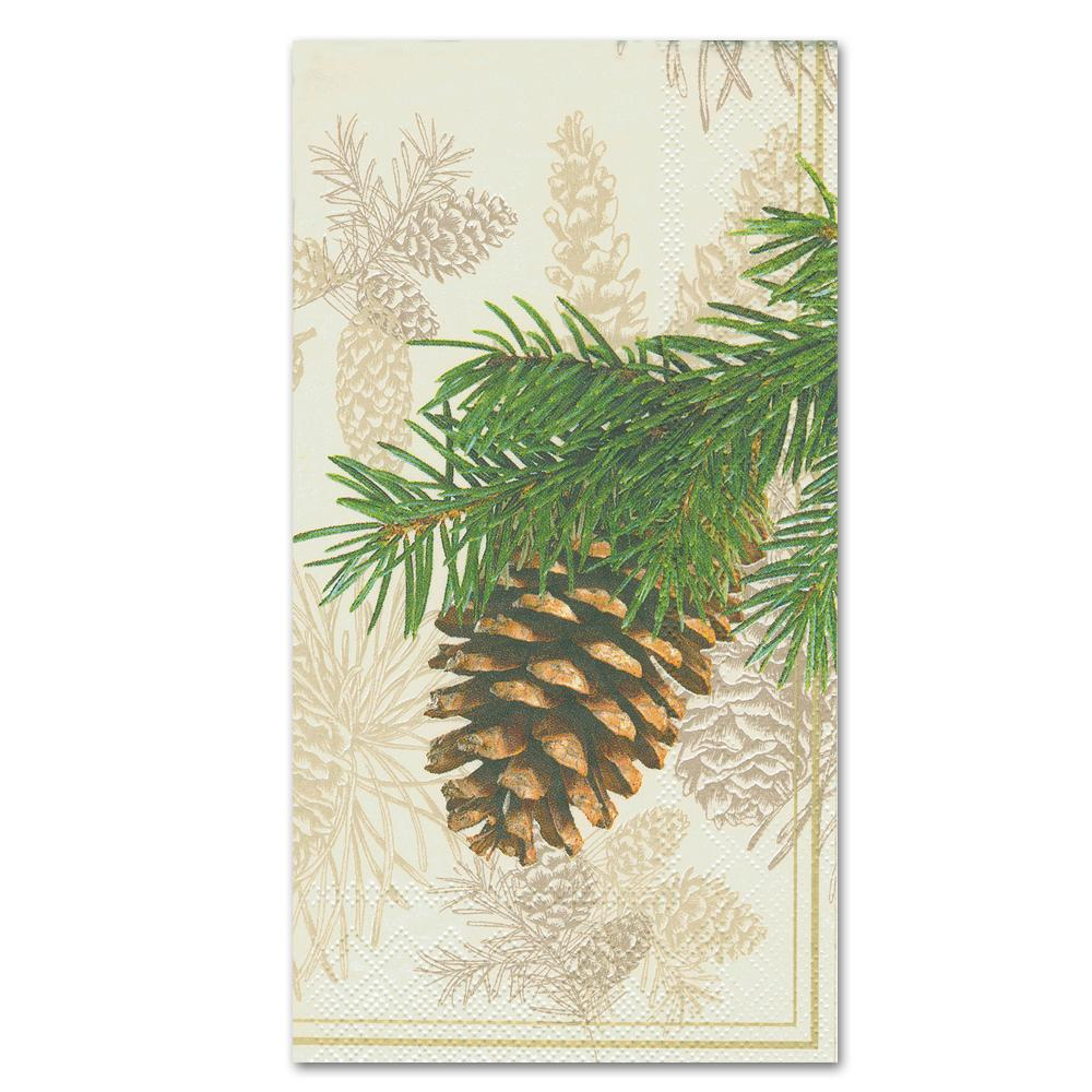 Fir Cone Cream Paper Guest Towels