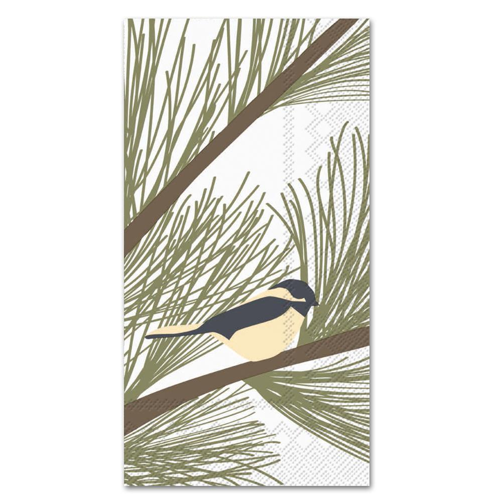 Chickadee & Pine Paper Guest Towels