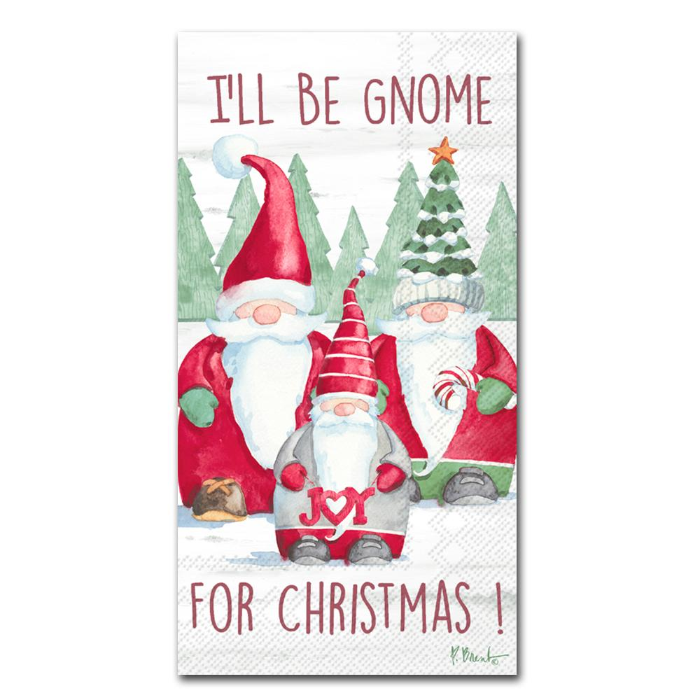 Gnome for Christmas Paper Guest Towels - Buffet Napkins
