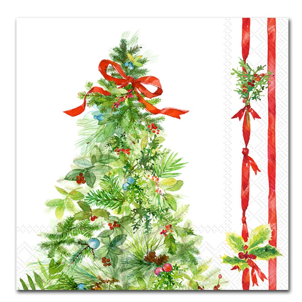 Peace Christmas Tree Paper Luncheon Napkins